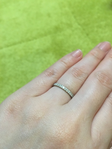 buy popular 10930 d801f Tiffany NOVOのフルエタニティを結婚指輪として買ってもらうのが ...