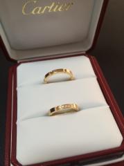 【カルティエ(Cartier)の口コミ】 婚約指輪をもらってなかったので、ダイヤ付きを探していました。 ダイヤが…
