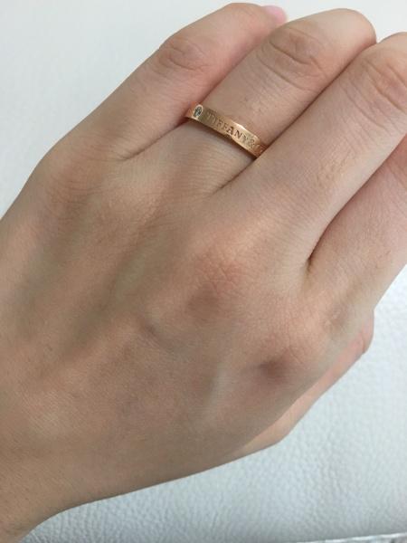new product e6460 277fb シンプルすぎる結婚指輪には抵抗があったのでファッションリング ...