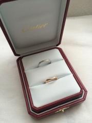 【カルティエ(Cartier)の口コミ】 結婚指輪はゴールドが良いと考えていましたが、肌の色にイエローゴールド…