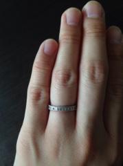 【JEWELRY  KAMATA(ジュエリーかまた)の口コミ】 ミル打ちの指輪を探していたのとミル打ちの中でもごつくなく細すぎず丁度良…