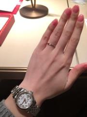 【カルティエ(Cartier)の口コミ】 結婚指輪は毎日つけたかったので、洗い物などをしていても気にならないよう…