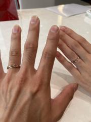【Bridal Jewelry Fujita(ブライダルジュエリーフジタ)の口コミ】 デザインと色が好みだったので決めさせてもらいました! なかなかピンクゴ…