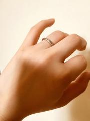 【ティファニー(Tiffany & Co.)の口コミ】 急に決まった結婚だったので、婚約期間がなく急いで指輪を見に行きました…