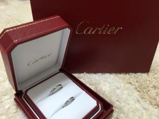 【カルティエ(Cartier)の口コミ】 結婚指輪は一生つけるものなので、デザインに流行がなくシンプルなものを…