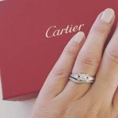 【カルティエ(Cartier)の口コミ】 婚約指輪は、彼がひとりで決めました。もともとカルティエとポンデがジュ…