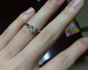 【ティファニー(Tiffany & Co.)の口コミ】 ほしかったリングがなんと製造停止になっていて、急遽別のリングを 購入し…