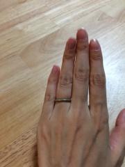 【ティファニー(Tiffany & Co.)の口コミ】 婚約指輪とあわせてつけることを考えていたので、婚約指輪のエタニティリン…