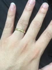 【Princess Bijou(プリンセス・ビジュー)の口コミ】 男性なので結婚指輪は正直どうでもいいと考えていましたが、販売店へ行き購…