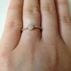 【MUNISO(ムニソー)の口コミ】 豪華なダイヤモンドリングよりも、毎日つけられるようなゴールドのリング…