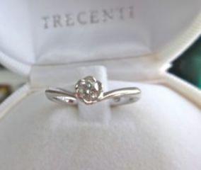 【TRECENTI(トレセンテ)の口コミ】 結婚指輪はシンプルな物しかないと思っていた中、【ハートのダイヤ&ピンク…