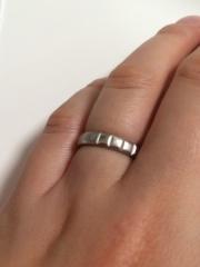 【シャネル(CHANEL)の口コミ】 婚約指輪を同ブランドのシャネルのマトラッセエンゲージリングにしたので、…