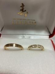 【LEHAIM(レハイム)の口コミ】 婚約指輪もこちらでお世話になり、店員さんの対応もよかったので結婚指輪…
