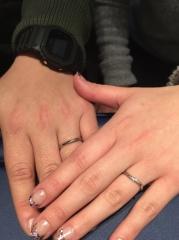 【銀座ダイヤモンドシライシの口コミ】 店員さんの対応がとても良かったので、決めました。指にとても馴染み、違…