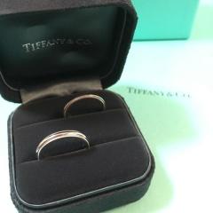 【ティファニー(Tiffany & Co.)の口コミ】 婚約指輪はわたしが好みのものを決めており、結婚指輪は主人が一番気に入っ…