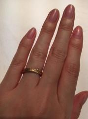 【TOKYO PEARLの口コミ】 全周デザインの指輪が希望だったのですが、お店のサンプルには無かった為、…