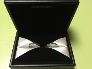 【エクセルコダイヤモンド(EXELCO DIAMOND)の口コミ】 結婚指輪は、シンプルでありながらも特別感と存在感がある物を&helli…