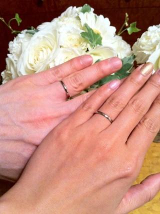 【ブシュロン(BOUCHERON)の口コミ】 結婚指輪はブシュロンが良いと兼ねてから憧れていました。シンプルで細い…