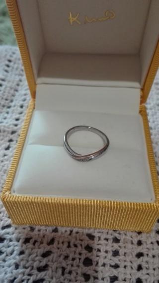 【ケイウノ ブライダル(K.UNO BRIDAL)の口コミ】 旦那が気に入ったデザインの指輪にしようと考えていました。 しばらく悩み…