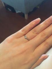 【ティファニー(Tiffany & Co.)の口コミ】 できるだけシンプルなものがよいが、やはり婚約指輪ということでエレガン…
