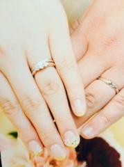 【ガラOKACHIMACHIの口コミ】 vラインの結婚指輪に重ねづけしても可愛いことが最大の決めてでした! 主…