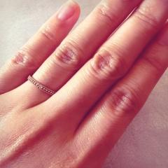 【CHER LUV(シェールラブ)の口コミ】 元々アンティーク調の指輪が欲しくて、デザインはもうこちらに決まってい…