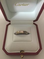【カルティエ(Cartier)の口コミ】 ハッピーバースデイロゴリングはサイズも豊富でした。 私用にはエングレー…
