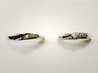 【festaria bijou SOPHIA(フェスタリア ビジュソフィア)の口コミ】 ダイヤモンドの存在感がありつつ普段使いでも派手すぎないデザインが決め手…