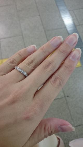 【LEHAIM(レハイム)の口コミ】 一粒ダイヤモンドのリングではなく、はじめからハーフエタニティリングで探…
