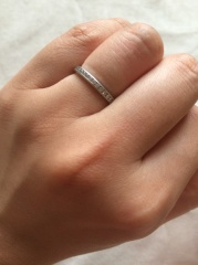【ティファニー(Tiffany & Co.)の口コミ】 結婚指輪は憧れのティファニーで購入したいと思っていました。いくつかのブ…