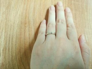 【ケイウノ ブライダル(K.UNO BRIDAL)の口コミ】 セミオーダーで自分たちの好みの指輪をデザインしていただけたことが決め…
