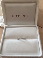 【TRECENTI(トレセンテ)の口コミ】 「双子ダイヤモンド」が大きな決め手でした。自分の指輪についているダイヤ…