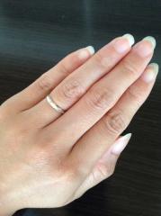 【ウィスプ(WISP)の口コミ】 手が小さく指のサイズが3号なので、なるべく指輪負けしたくなくて、細くて…