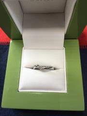 【LAPAGE(ラパージュ)の口コミ】 前回、購入した婚約指輪との 重ね付けが、とても素敵 だったので!(*^…