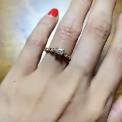 【ORECCHIO(オレッキオ)の口コミ】 婚約指輪と言えば、ブリリアントカット。という感じでブリリアントカットの…