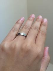 【アイプリモ(I-PRIMO)の口コミ】 夫婦揃って気にいった始めての指輪でした。人と同じようなシンプルなもので…