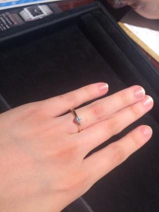 【JEWELRY  KAMATA(ジュエリーかまた)の口コミ】 とてもシンプルでどんな場面でもつけれる指輪で結婚指輪と二個付けしたいな…