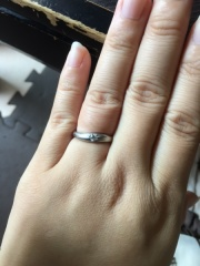 【festaria bijou SOPHIA(フェスタリア ビジュソフィア)の口コミ】 指輪についているカットがダイヤのカットがスコープで見ると星形に見えて可…