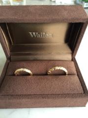 【Wailea(ワイレア)の口コミ】 この指輪に決めた決め手は、以前から結婚指輪はハワイアンジュエリーでしか…