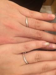 【Mariage(マリアージュ)の口コミ】 ウェーブデザインを探している中で、婚約指輪(マリアージュのトゥジュール…