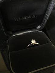 【ティファニー(Tiffany & Co.)の口コミ】 昔から、憧れていて婚約指輪を買うならここのブランドいいなと思っていた…