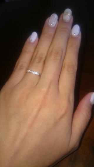 【ガラOKACHIMACHIの口コミ】 「シンプル、可愛いさりげなさ、価格」が気に入りこの指輪に決めました!…