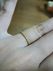 【CHER LUV(シェールラブ)の口コミ】 いかにも結婚指輪っぽいデザインよりも、 カジュアルな指輪がいいというの…