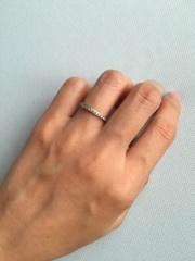 【4℃(ヨンドシー)の口コミ】 結婚指輪はとにかくシンプルで、あまり主張しないものにしよう!と思って…