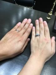 【JEWELRY  KAMATA(ジュエリーかまた)の口コミ】 付けやすさとデザインが良かったです。 婚約指輪と合わせてつけてみて劣ら…