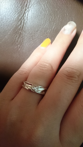 【ケイウノ ブライダル(K.UNO BRIDAL)の口コミ】 指輪じたいが太めを探していてどのお店もなかなかなく、ここでは自分たち…