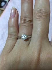 【ティファニー(Tiffany & Co.)の口コミ】 他のティファニーの指輪も検討しましたが、手がゴツめなので、高さもあり…