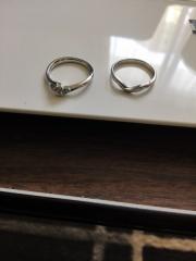 【アトリエフィロンドールの口コミ】 夫が婚約指輪をこのお店で用意してくれて、デザインも好きな物を選ぶこと…