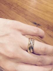 【カルティエ(Cartier)の口コミ】 とても珍しいことかもしれませんが、主人とはお互い別のブランドの結婚指輪…