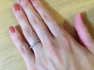 【ティファニー(Tiffany & Co.)の口コミ】 結婚前よりマリッジリングには老舗ブランドのフルエタニティのリングを希…